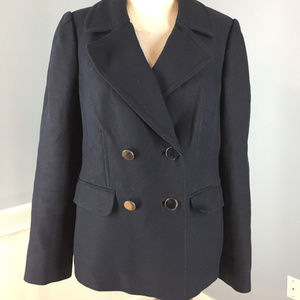 Banana Republic L Navy Blue Coat Jacket peacoat